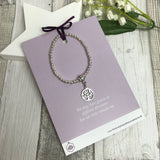 Tree of Life Bracelet with Quote Card - Various Thoughtful Quotes
