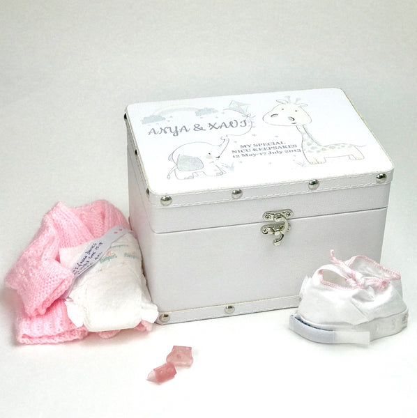 Personalised White Keepsake Box - for NICU/Special Care babies