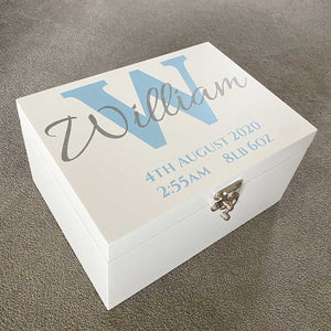 You added Initial & Name White Painted Luxury Wooden Keepsake Box (Pink, Blue, Silver or Gold) to your cart.