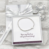 Heart Bracelet Personalised Gift Box - Various Thoughtful Messages