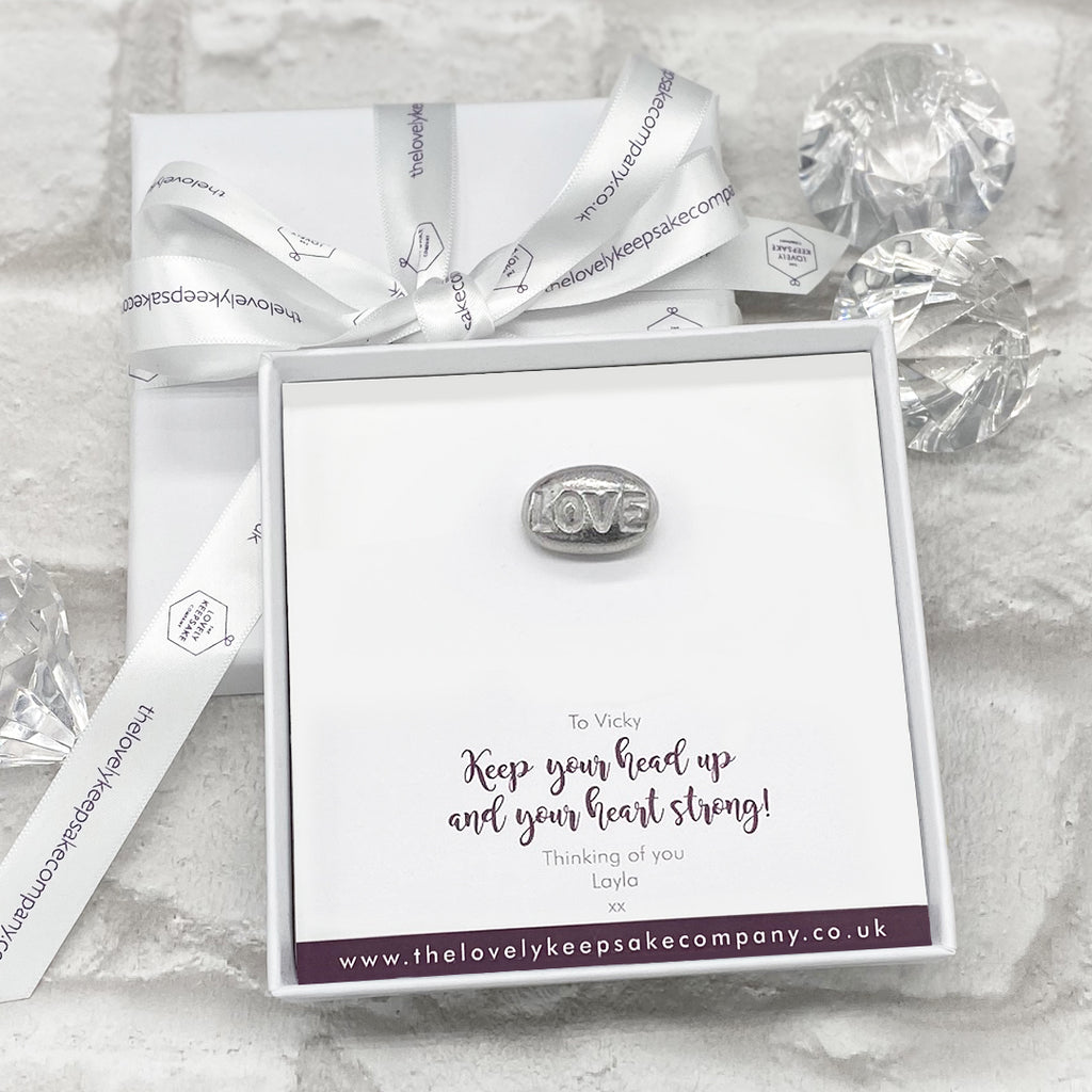 Love Pebble Token Personalised Gift Box - Various Thoughtful Messages