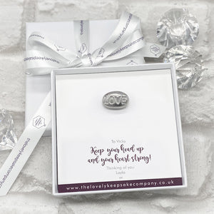 You added Love Pebble Token Personalised Gift Box - Various Thoughtful Messages to your cart.