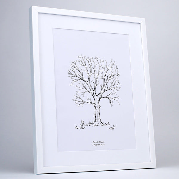 Personalised Fingerprint Tree, Hand Drawn Sketch