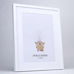You added Personalised Fingerprint Art, Twin Teddy Bears to your cart.