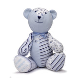 Unique Babygro Bear created from baby clothes.