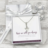 Angel Necklace Personalised Gift Box - Various Thoughtful Messages