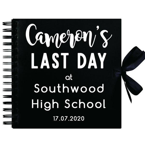 Personalised Last Day At School Scrapbook (Kraft, Black, White)