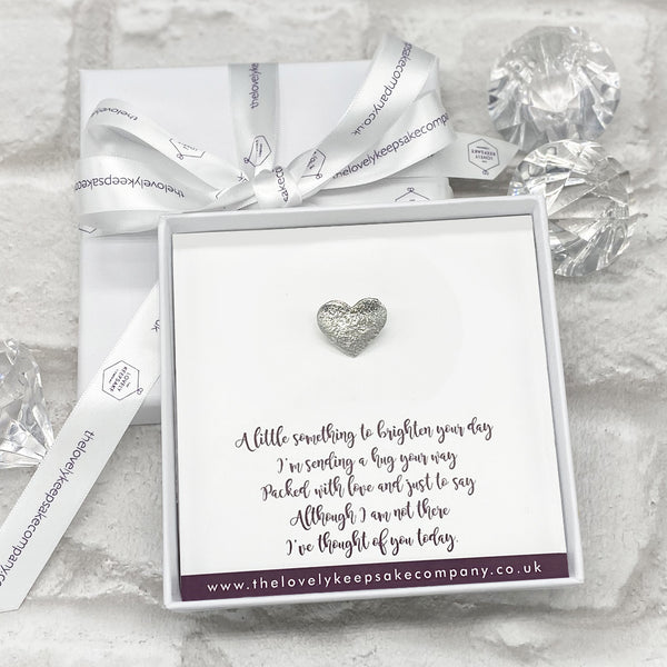 Heart Pin Personalised Gift Box - Various Thoughtful Messages