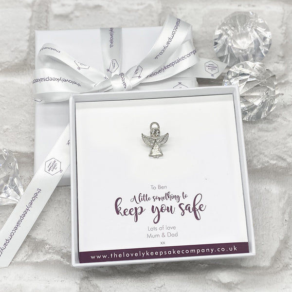 Angel Pin Personalised Gift Box - Various Thoughtful Messages