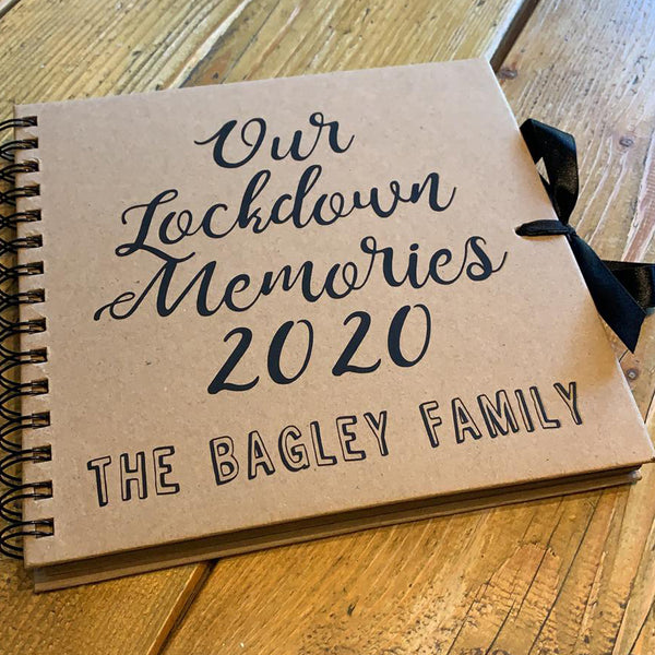 Lockdown Memories Scrapbook (Kraft, Black, White)