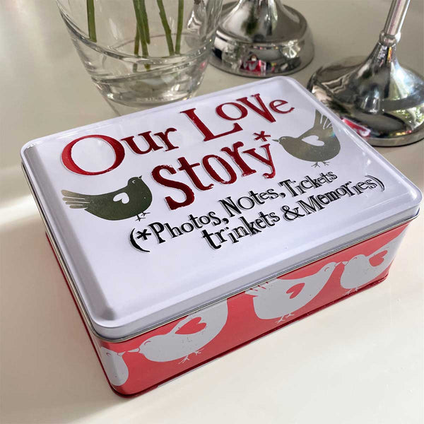 Our Love Story Keepsake Tin