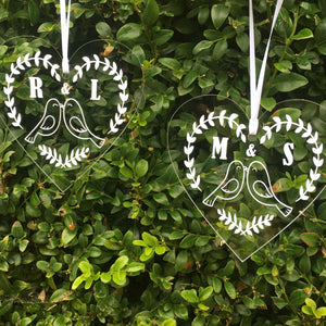 You added Personalised Love Birds Couples Acrylic Christmas Decoration to your cart.