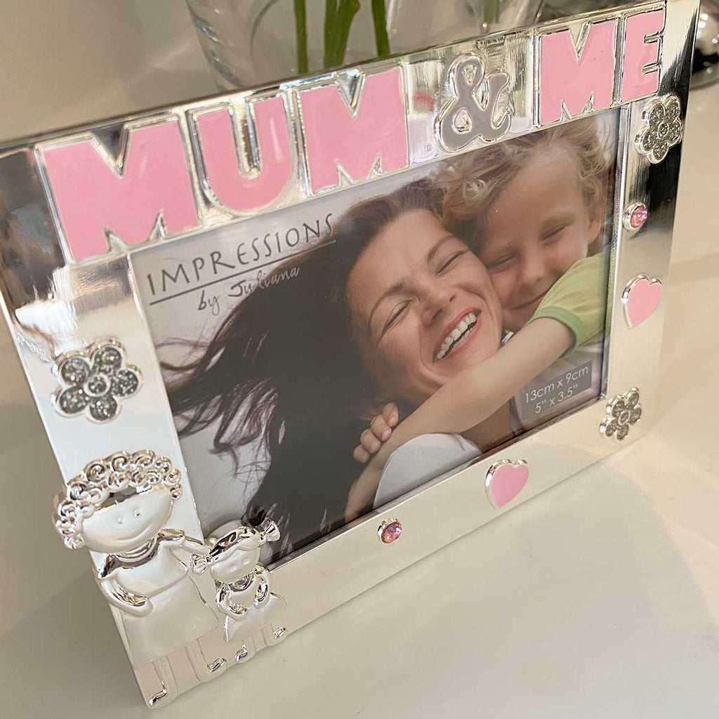 'Mum & Me' Photo Frame, Silver Plated