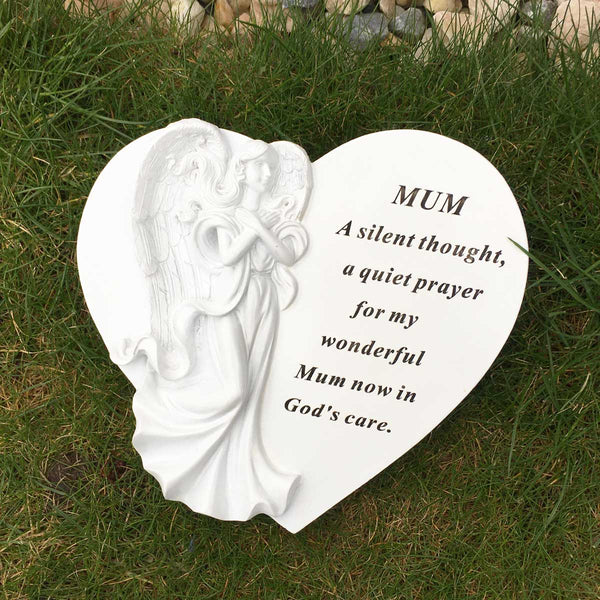 Angel Heart Outdoor Memorial - Mum
