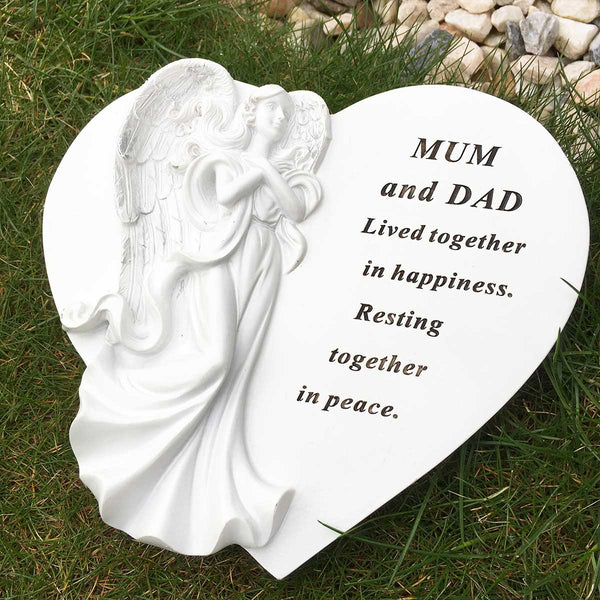 Angel Heart Outdoor Memorial - Mum & Dad
