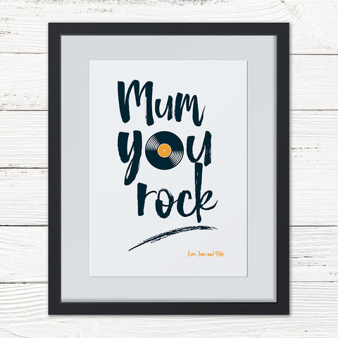 You Rock Personalised Print