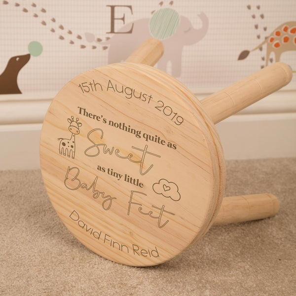 Personalised Engraved Wooden Stools - 13 designs