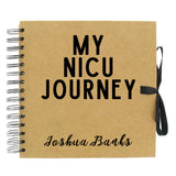 Personalised My NICU Journey Scrapbook (Kraft, White)