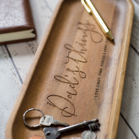 Personalised Wooden 'Dad's Things' Tray