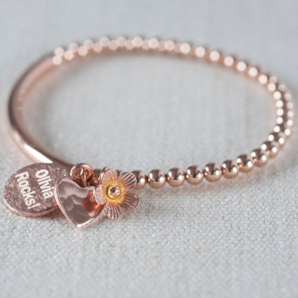 Rose Gold Stretch Bracelet