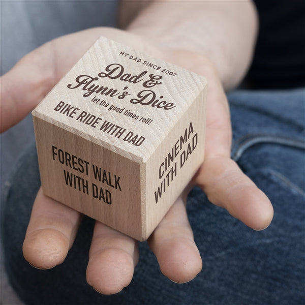 Personalised Wooden 'Activities With Dad' Dice