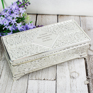 You added Personalised Antique Silver Plated Jewellery Box to your cart.