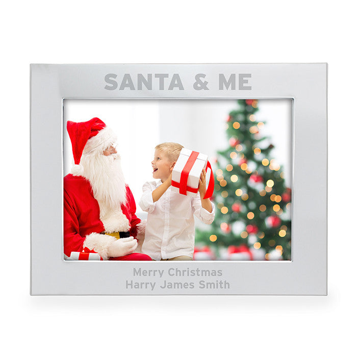 Personalised Photo Frame 'SANTA & ME'