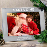 Personalised Photo Frame 'SANTA & ME' - lifestyle image