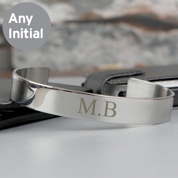 Personalised Stainless Steel Bangle with Initials