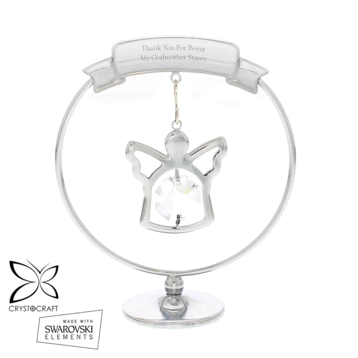 Personalised Crystocraft Angel Ornament