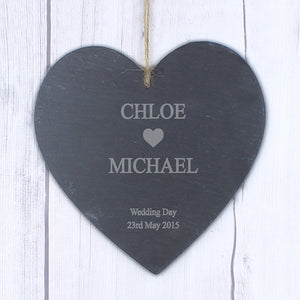 You added Personalised Couples Slate Heart to your cart.
