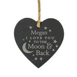 Personalised To the Moon and Back... Slate Heart