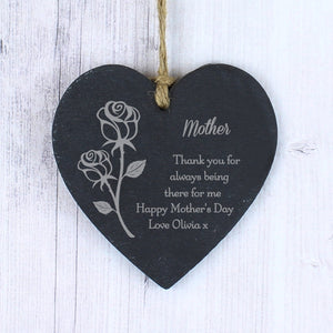 You added Personalised Rose Slate Heart Decoration to your cart.