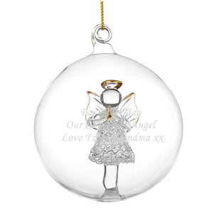 You added Personalised Christmas Tree Bauble, Glass with Angel to your cart.