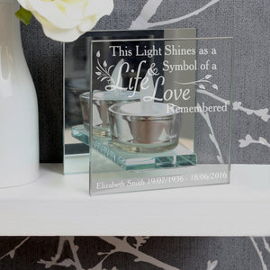 You added Personalised Life and Love Mirrored Glass Tea Light Holder to your cart.