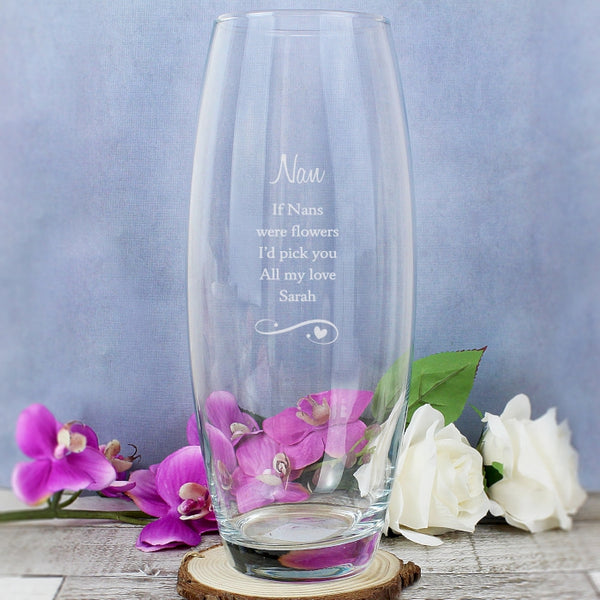 'If Grandma's Were Flowers I'd Pick You' Vase - Personalise with Nan, Nana etc