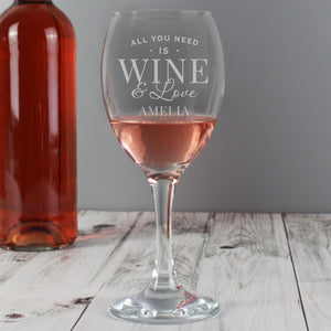 You added 'All You Need Is Wine & Love' Glass to your cart.