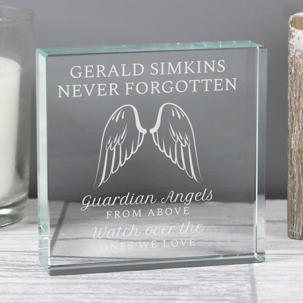 Personalised Angel Wings Crystal Token