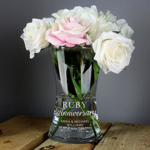 You added Personalised 'Ruby Anniversary' Glass Vase to your cart.