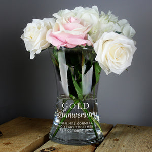 You added Personalised 'Gold Anniversary' Glass Vase to your cart.