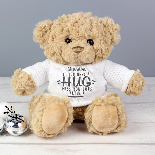"Personalised ""If You Need A Hug"" Teddy Bear"