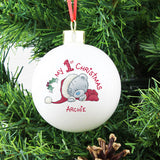 Personalised 'My 1st Christmas' Bauble with Tatty Teddy - on Tree