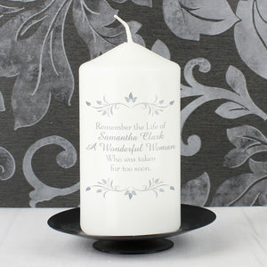 You added Personalised Sentiments Pillar Candle - Your Message to your cart.
