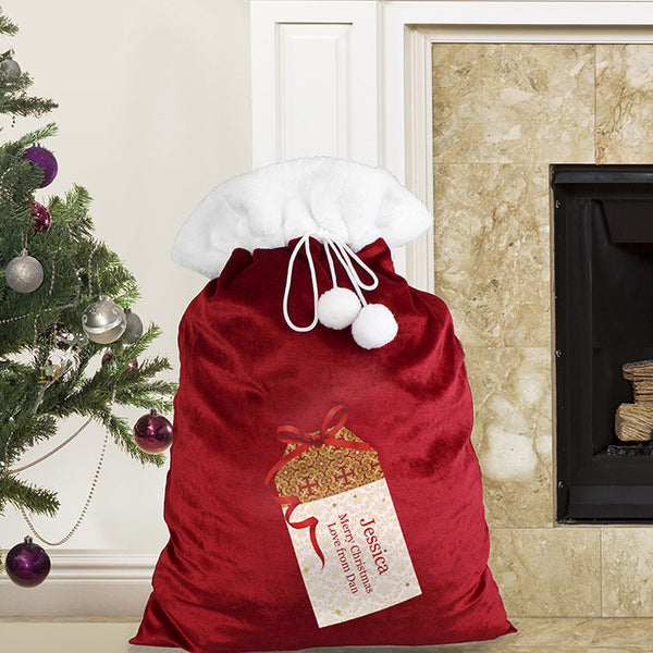 Personalised Luxury Plush Santa Sack