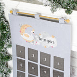 Personalised Felt Pocket Advent Calendar - 6 designs