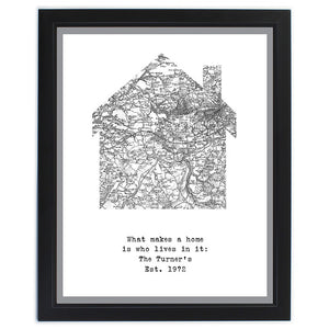 You added Personalised Old Series Map Home Framed Print to your cart.