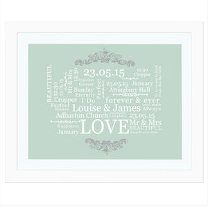 You added Wedding Typographic Art Poster White Frame to your cart.