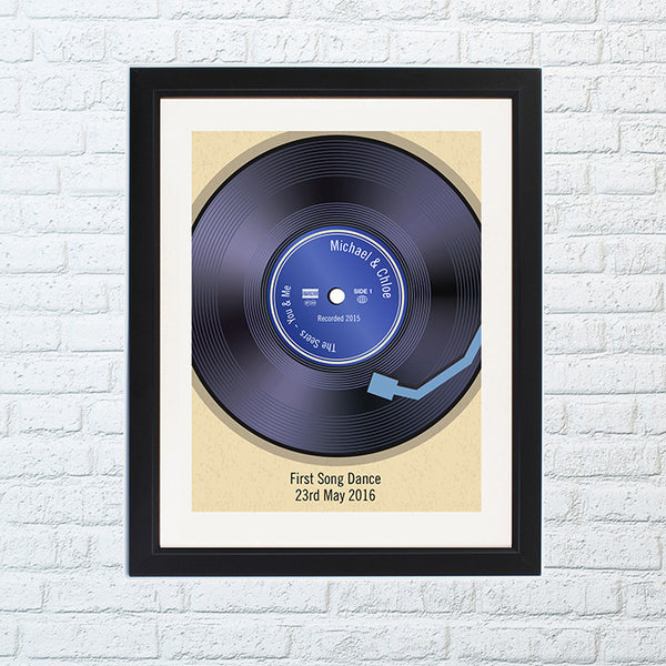 Personalised vinyl record poster.