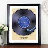 Retro Vinyl Poster of Favourite Record/Song with Black Frame