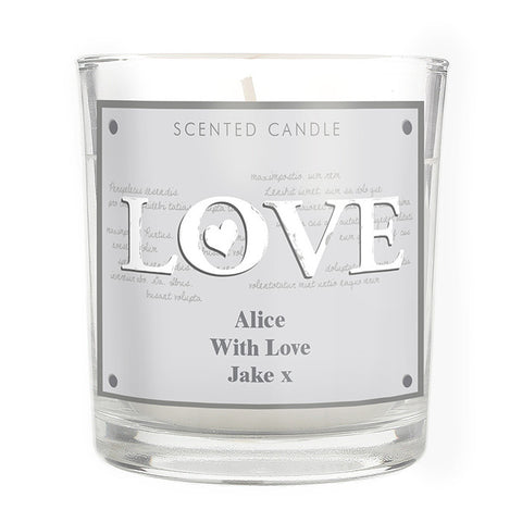 'LOVE' Scented Candle